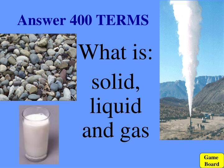 Answer 400 TERMS