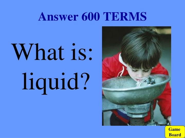 Answer 600 TERMS