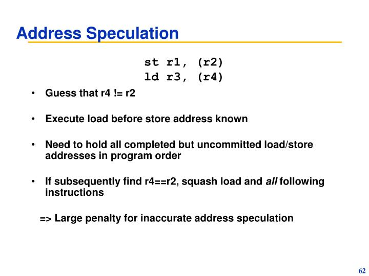Address Speculation