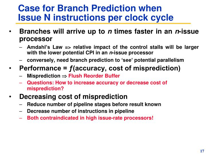Case for Branch Prediction when