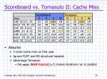 scoreboard vs tomasulo ii cache miss