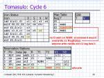 tomasulo cycle 6