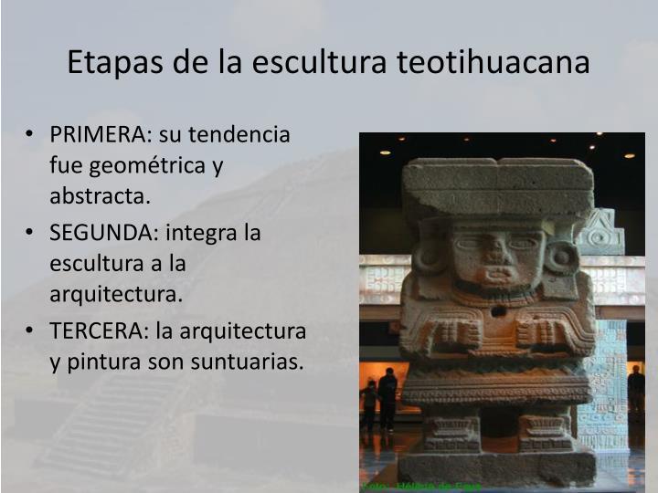 Etapas de la escultura teotihuacana