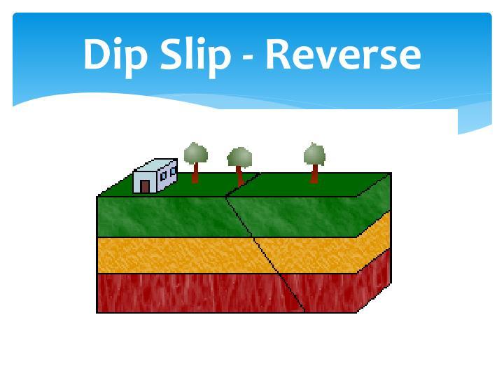 Dip Slip - Reverse