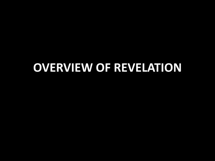 overview of revelation n.