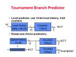 tournament branch predictor1