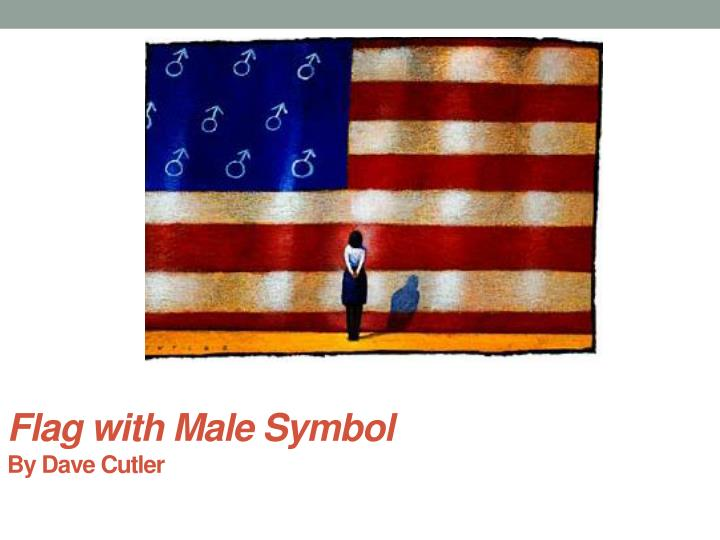Flag with Male Symbol