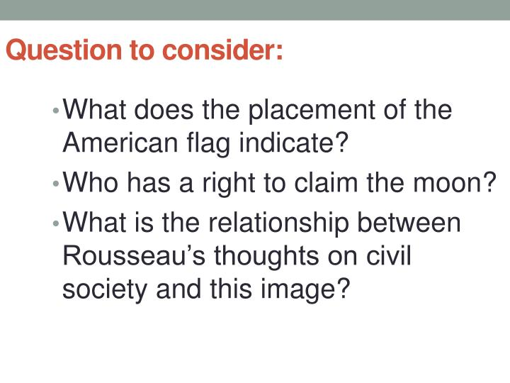 Question to consider: