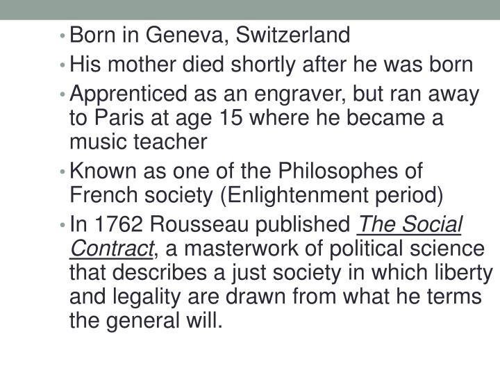 Born in Geneva, Switzerland