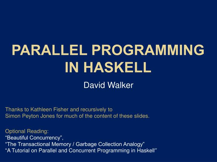 parallel programming in haskell n.