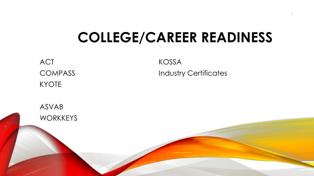 Ppt Collegecareer Readiness Powerpoint Presentation Id2328642