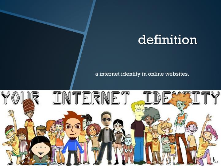 a internet identity in online websites.