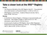 take a closer look at the iris registry