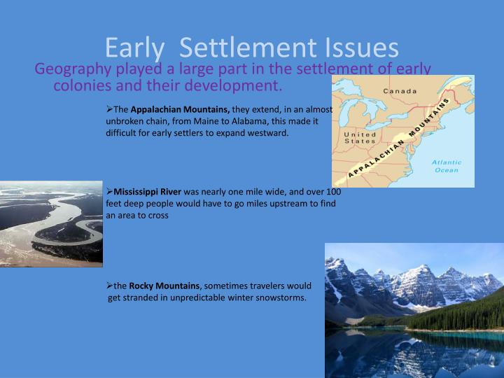 Early  Settlement Issues
