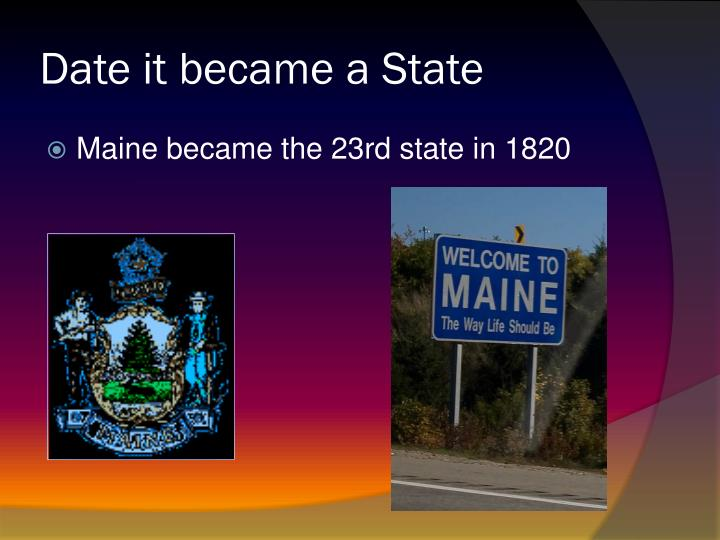 Date it became a state
