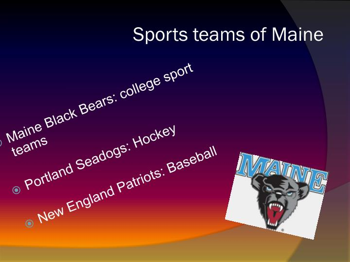 Sports teams of Maine