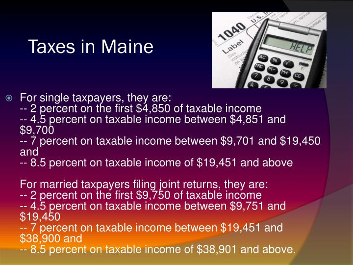 Taxes in