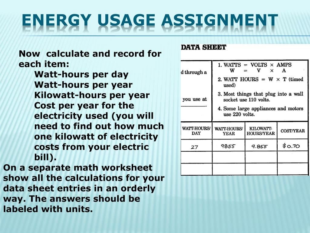 PPT - ENERGY USAGE PowerPoint Presentation, free download ...