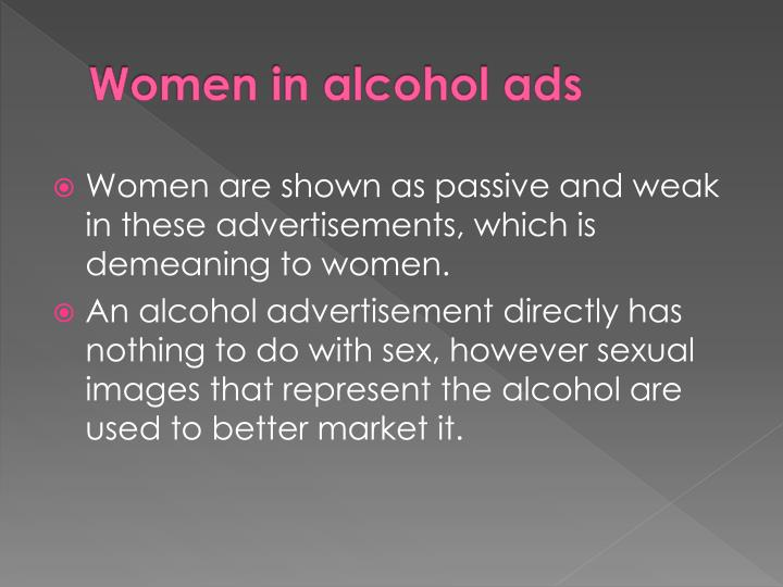 Women in alcohol ads