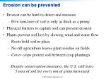 erosion can be prevented