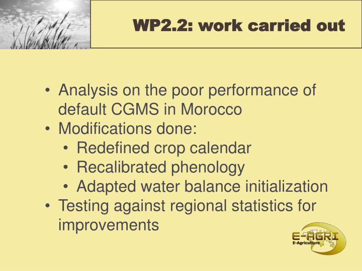 WP2.2: