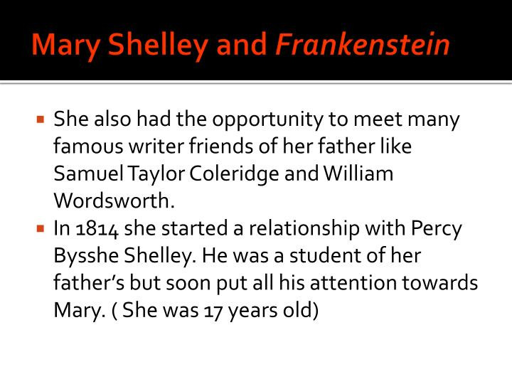 Mary shelley and frankenstein2