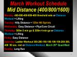 march workout schedule mid distance 400 800 1600