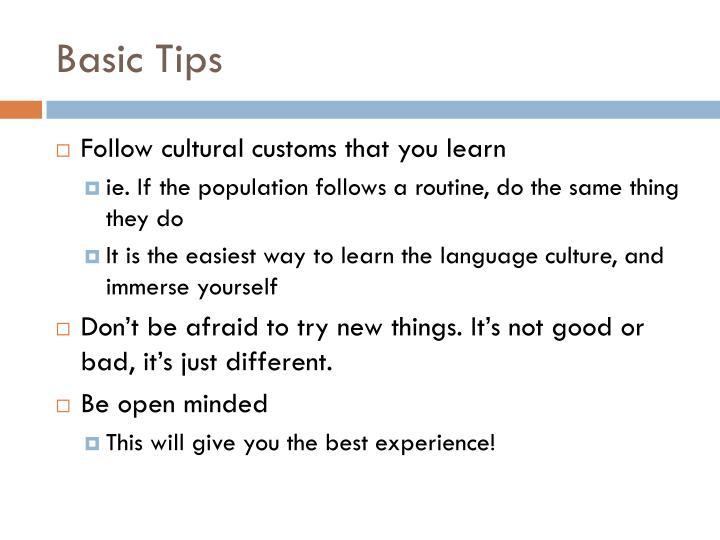Basic tips1