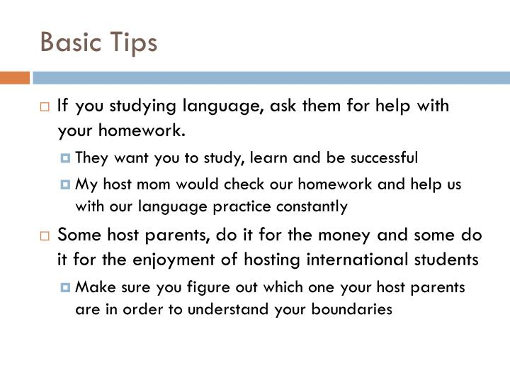Basic Tips