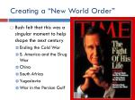 creating a new world order