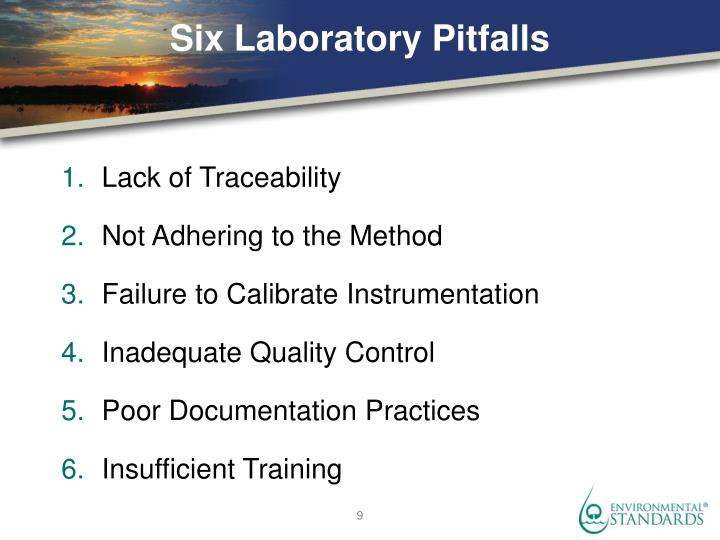 Six Laboratory Pitfalls