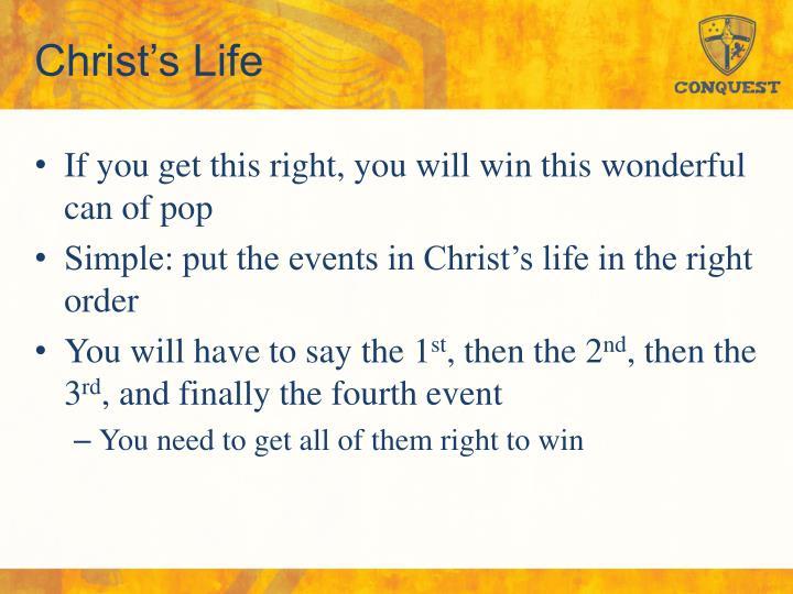 Christ's Life
