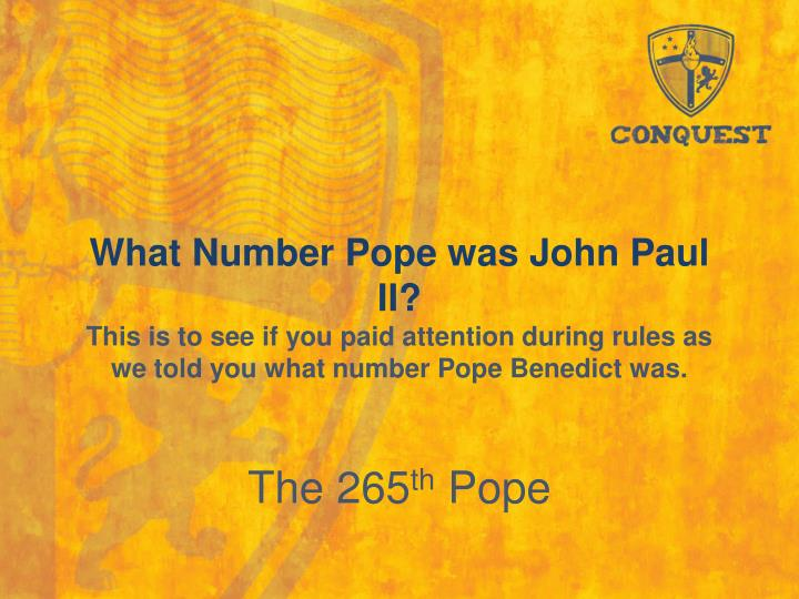 What Number Pope was John Paul II?