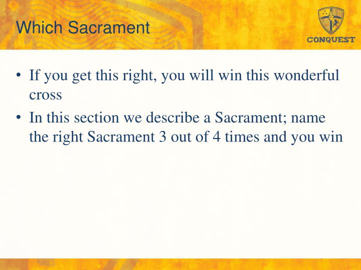 Which Sacrament