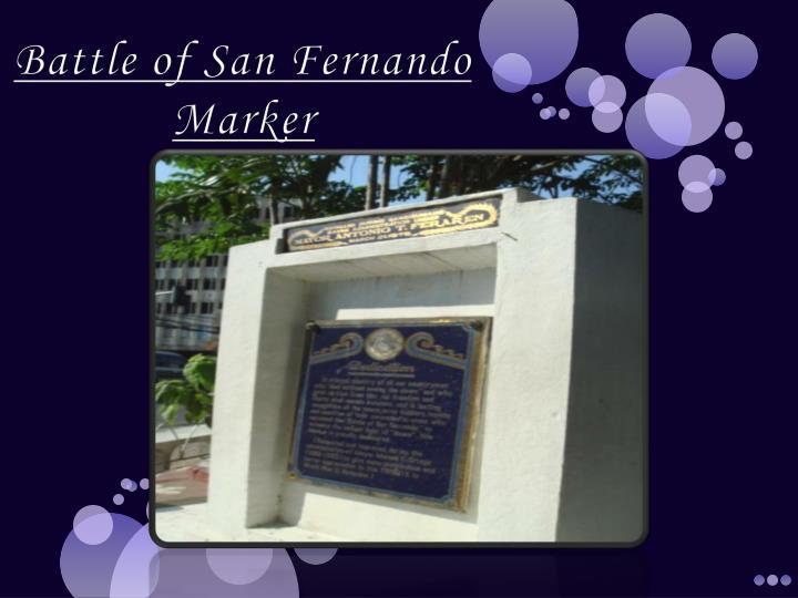 Battle of San Fernando Marker