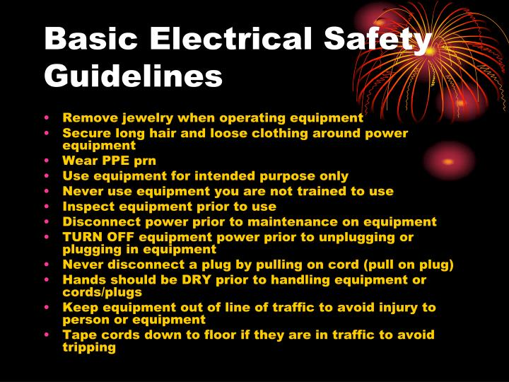 Basic Electrical Safety Guidelines