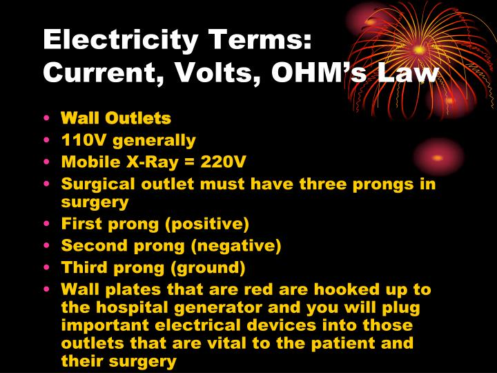 Electricity Terms:
