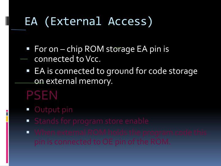 EA (External Access)