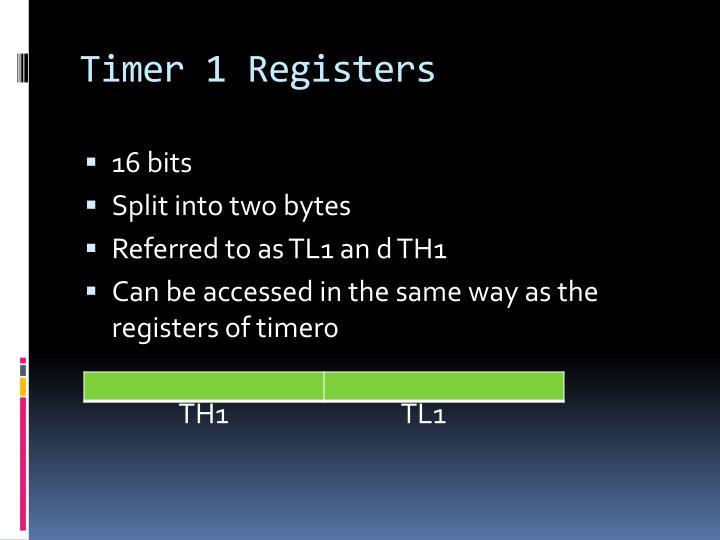 Timer 1 Registers
