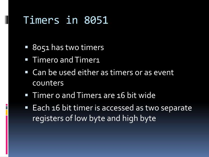 Timers in 8051