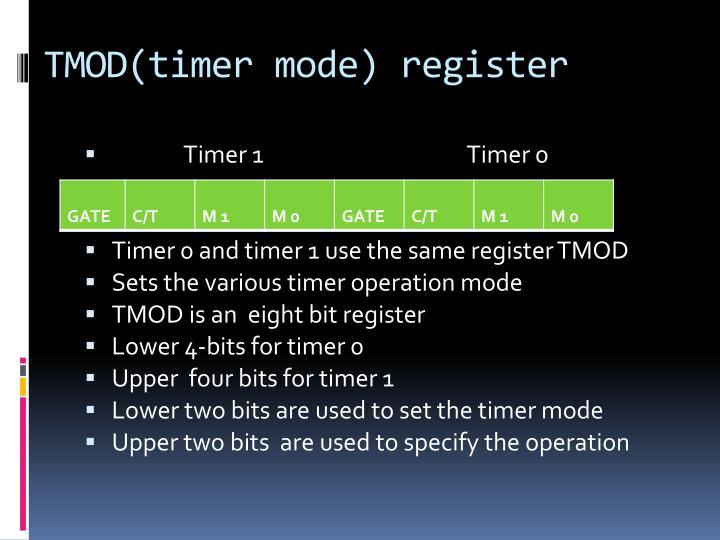 TMOD(timer mode) register