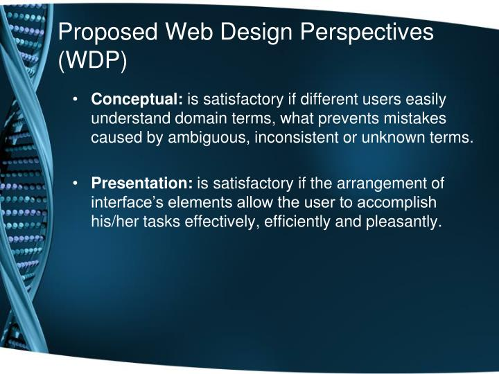 Proposed web design perspectives wdp