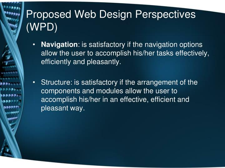 Proposed Web Design Perspectives (WPD)