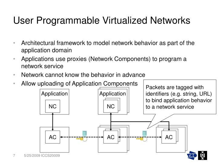 User Programmable Virtualized Networks