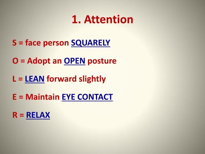 1. Attention