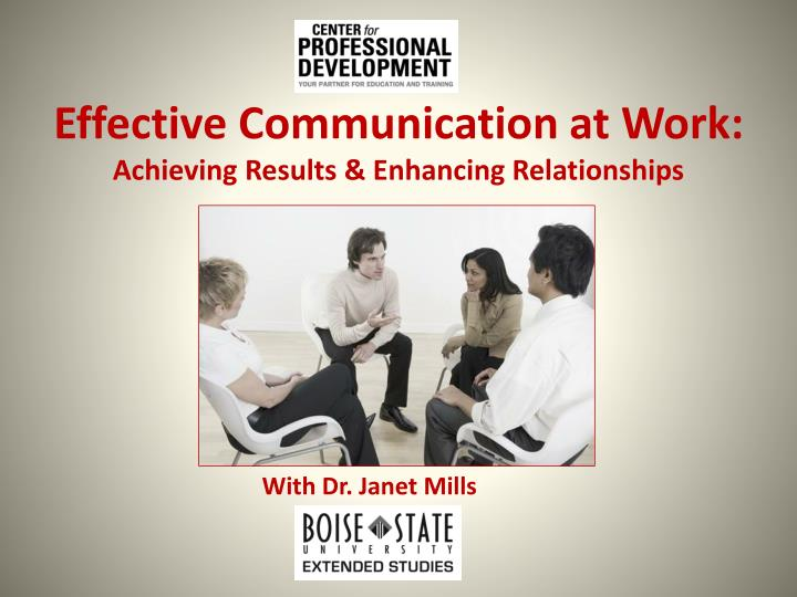 Effective Communication at Work: