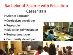 bachelor of science with education career as a