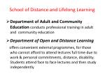 school of distance and lifelong learning