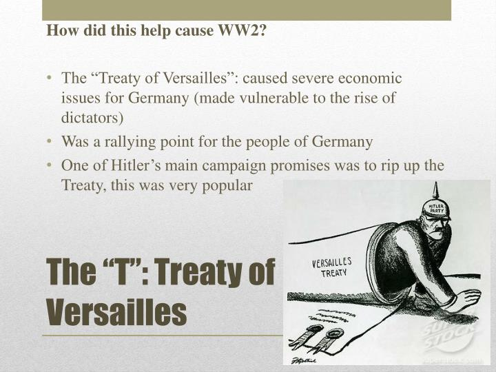 understanding the problems caused by the treaty of versailles on germany Summary on 28 june 1919, the treaty of versailles was signed with germany the germans had not been allowed to send any delegates, and had to accept whatever was decided.