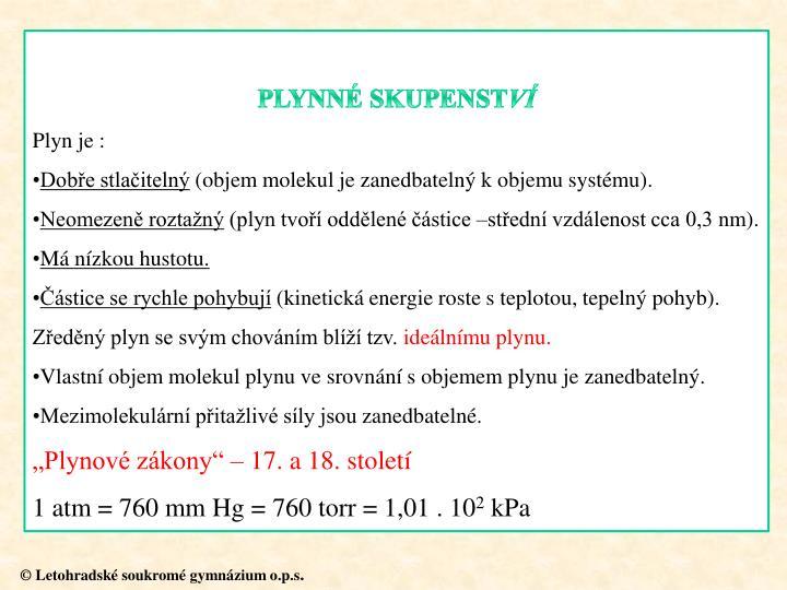 PLYNNÉ